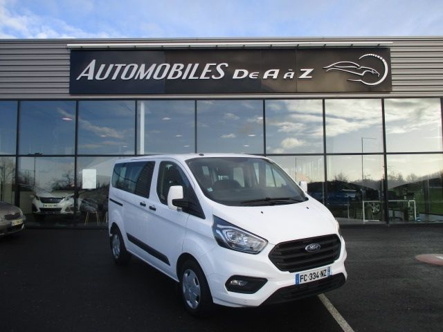 Ford TRANSIT CUSTOM KOMBI L2H1 2.0 ECOBLUE 130CH TREND 9 PLACES TPMR Diesel BLANC Occasion à vendre